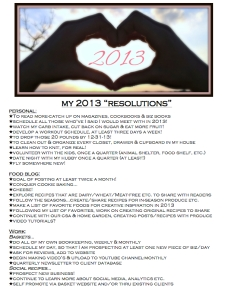 2013 Resolutions Blog