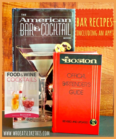 Bar recipe books...