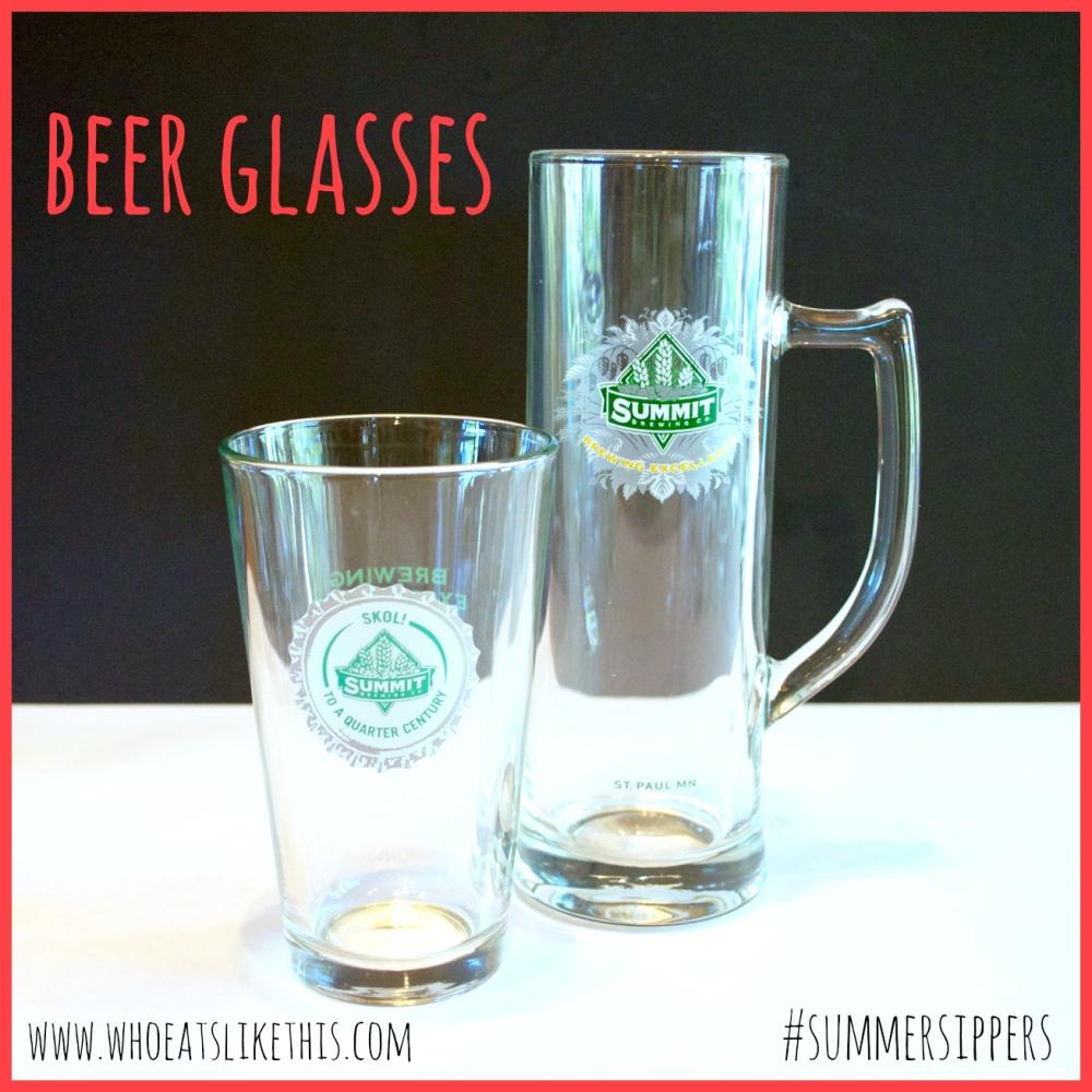 Beer mug & pint glass