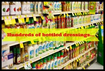 dressing bottles