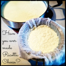 Homemade Ricotta in the making!