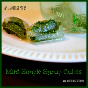 Mint Simple Syrup Cubes