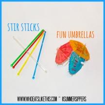 Stir sticks & umbrellas