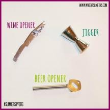 Wine & beer opener, jigger