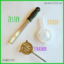 zester, strainer & juicer