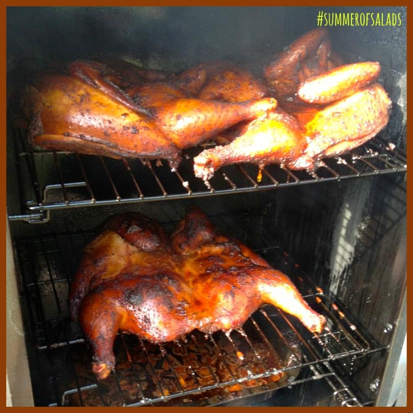 chicken on the smoker