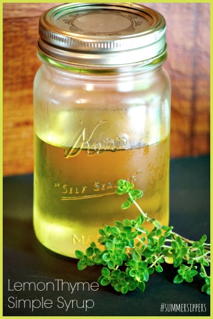 Lemon Thyme Simple Syrup2