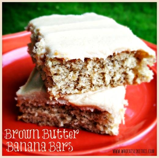 Brown Butter Banana Bars