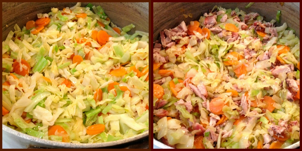Saute Cabbage & Carrots-Add Chicken