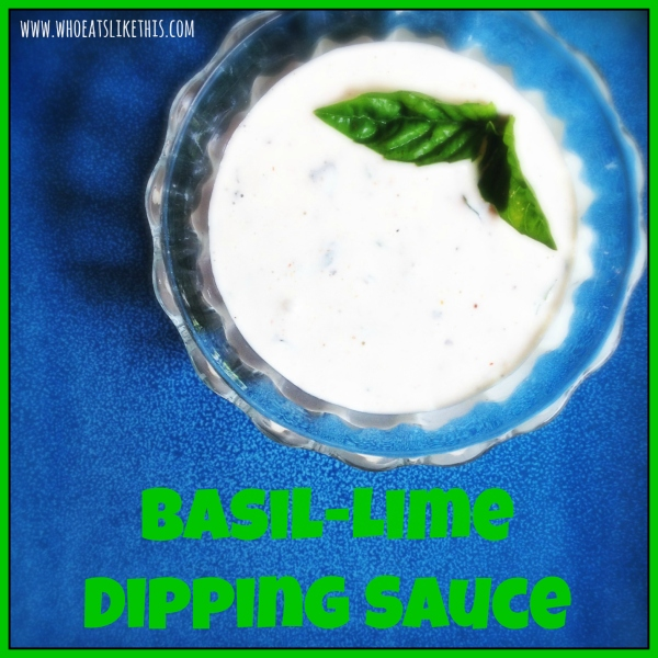 Basil-Lime Dipping Sauce