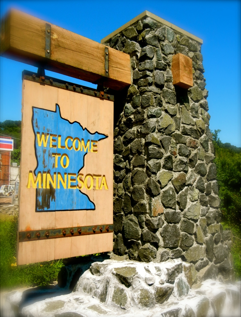 Welcome to MN sign
